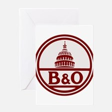 B&O railroad design Greeting Cards