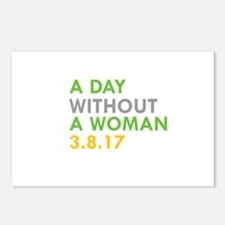 A DAY WITHOUT A WOMAN 3.8.17 Postcards (Package of
