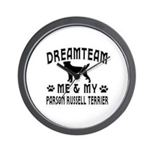 Parson Russell Terrier Dog Designs Wall Clock