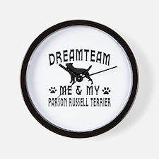 Parson Russell Terrier Dog Designs Wall Clock