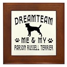 Parson Russell Terrier Dog Designs Framed Tile