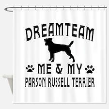 Parson Russell Terrier Dog Designs Shower Curtain