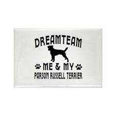 Parson Russell Terrier Dog Designs Rectangle Magne