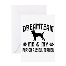 Parson Russell Terrier Dog Designs Greeting Card