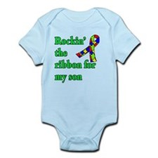 Autism Ribbon for Son Infant Bodysuit