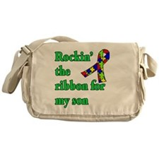 Autism Ribbon for Son Messenger Bag