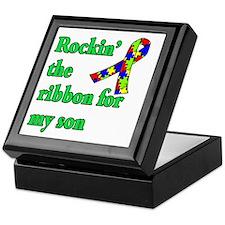 Autism Ribbon for Son Keepsake Box