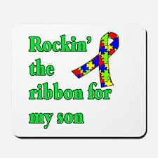 Autism Ribbon for Son Mousepad