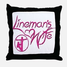 Lineman's Wife Throw Pillow