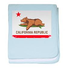 Surfing CA cub baby blanket