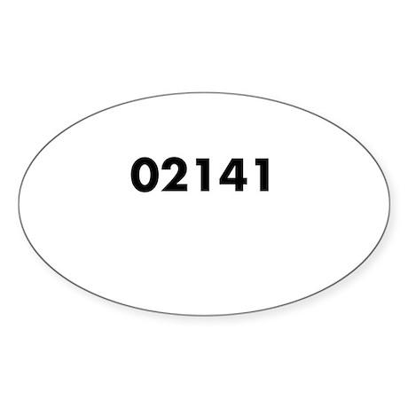 02141 Oval Bumper Sticker Sticker