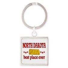 North Dakota Best Square Keychain