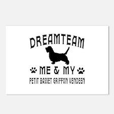 Petit Basset Griffon vendeen Dog Designs Postcards