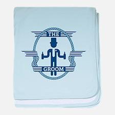 The Groom (Blue) baby blanket