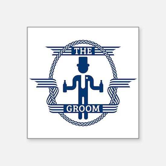 The Groom (Blue) Sticker