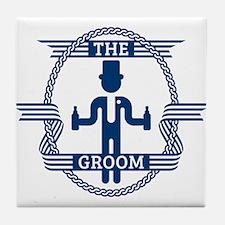 The Groom (Blue) Tile Coaster