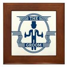 The Groom (Blue) Framed Tile