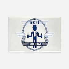 The Groom (Blue) Rectangle Magnet