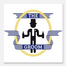 "The Groom (3C) Square Car Magnet 3"" x 3"""