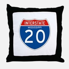 Interstate 20 - MS Throw Pillow