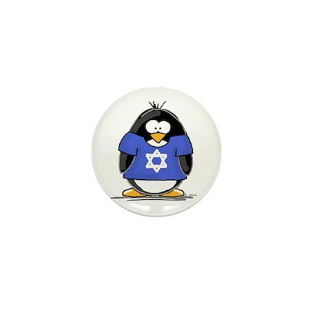 Star of David Penguin Mini Button (100 pack)
