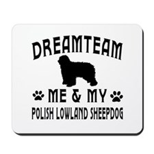 Polish Lowland Sheepdog Dog Designs Mousepad