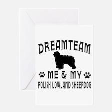 Polish Lowland Sheepdog Dog Designs Greeting Card