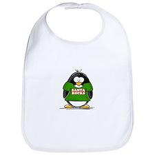 Santa Rocks Penguin Bib