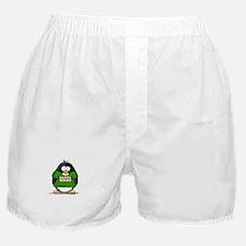 Santa Rocks Penguin Boxer Shorts