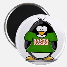 "Santa Rocks Penguin 2.25"" Magnet (100 pack)"