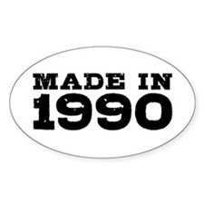 Made In 1990 Decal