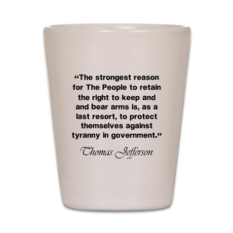 Right to Bear Arms Shot Glass