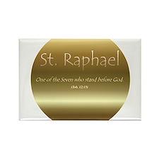 St. Raphael Rectangle Magnet