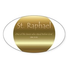 St. Raphael Oval Decal