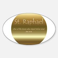 St. Raphael Oval Decal