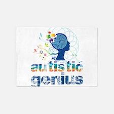 Autistic genius 5'x7'Area Rug