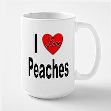 I Love Peaches Large Mug