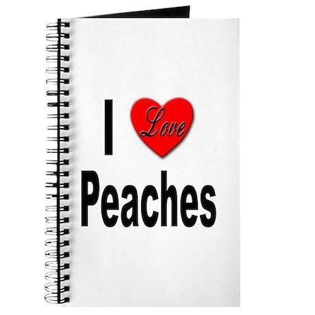 I Love Peaches Journal