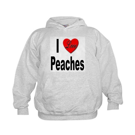 I Love Peaches (Front) Kids Hoodie