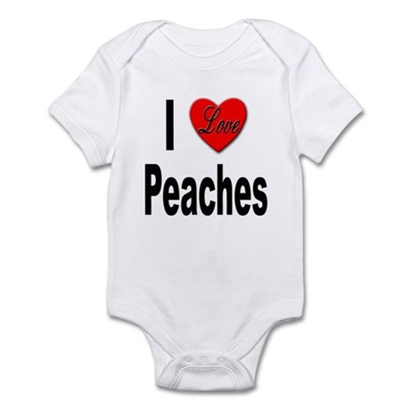 I Love Peaches Infant Bodysuit