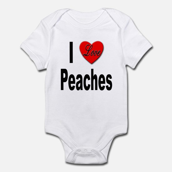 I Love Peaches Infant Bodysuit