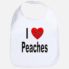 I Love Peaches Bib