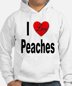 I Love Peaches (Front) Hoodie