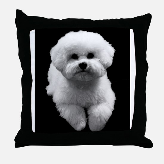 Beau the Beautiful Bichon Throw Pillow