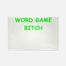WORD games Rectangle Magnet