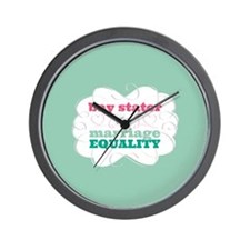 Bay Stater for Equality Wall Clock