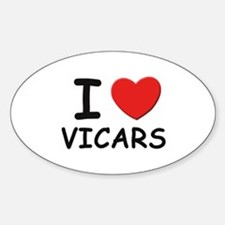I Love vicars Oval Decal