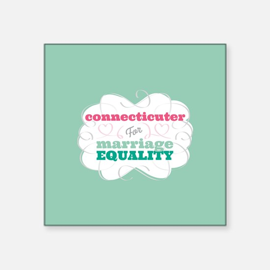 Connecticuter for Equality Sticker