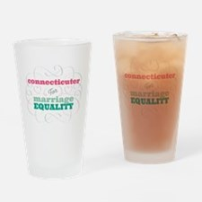 Connecticuter for Equality Drinking Glass