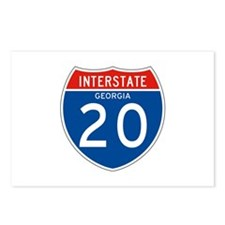 Interstate 20 - GA Postcards (Package of 8)